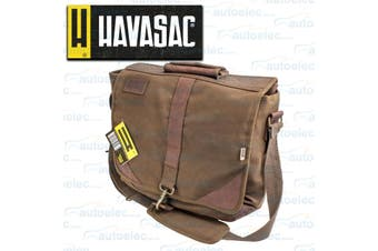 Havasac Leather Trim Laptop Satchel Bag