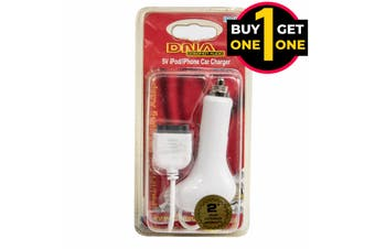 Black Friday 5V ipod iPhone Car Charger White 2 For 1
