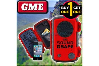 Black Friday GME Safe Sound Waterproof Floating Phone Case & Built In Speaker Red 2 For 1