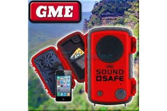 GME Safe Sound Waterproof Floating Phone Case & Built In Speaker Red