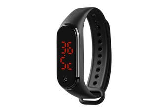 Temperature Measuring Wrist Band with Time Display