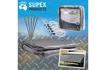 Supex Caravan Sun Shade Cover Privacy Screen 5.5M X 1.8M For 19' Roll Out Awning