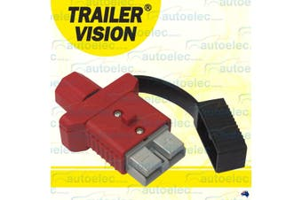 Trailer Vision Red 50A Anderson Plug Cover and Dust Cap