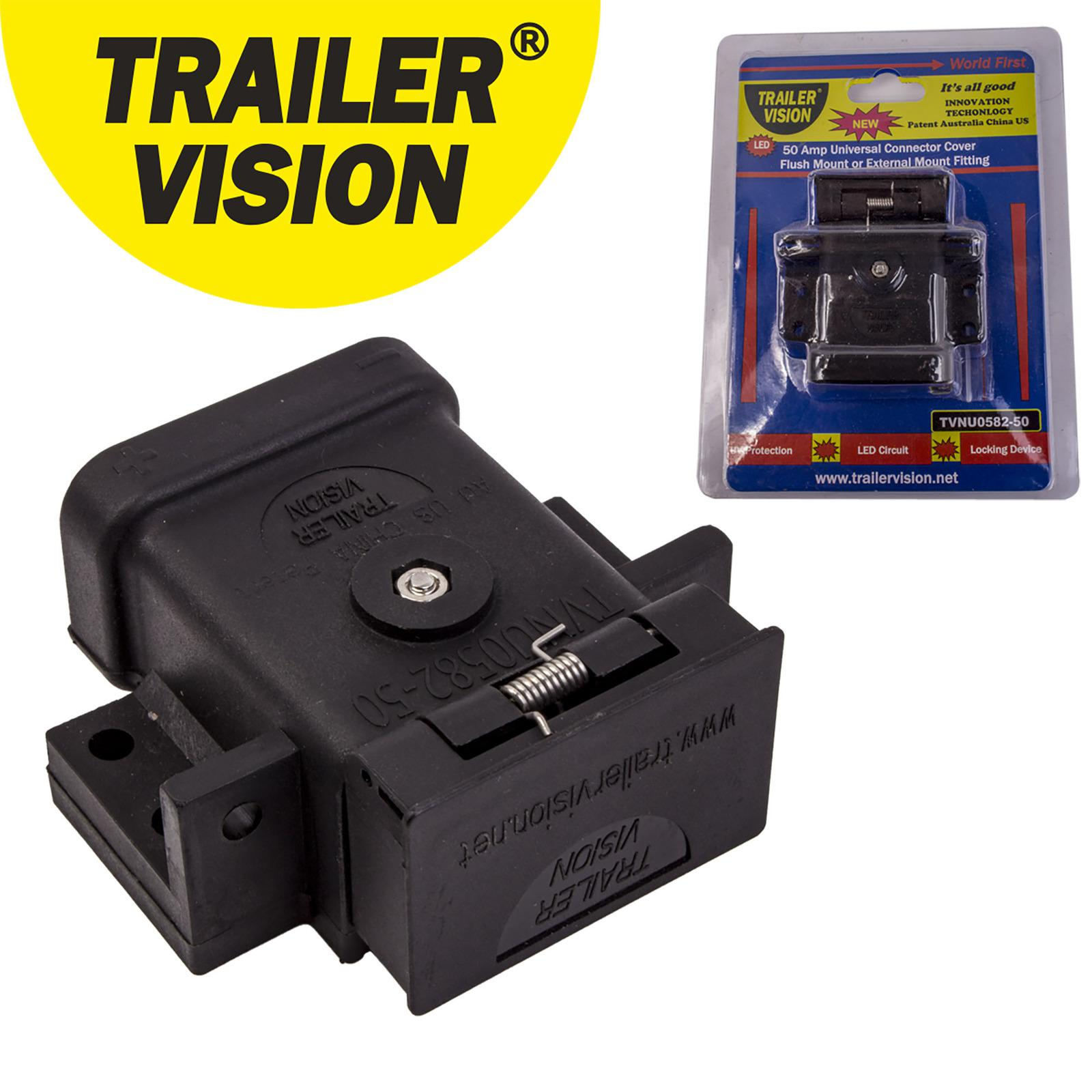Trailer Vision 50 Amp Anderson Plug Flush Mount External Connector Cover
