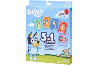 Bluey 5 in 1 Games Jumbo Card Games