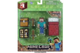 Minecraft Overworld Survival Pack Steve Action Figure