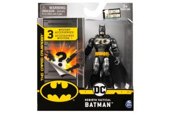 Rebirth Tactical Batman Figure 10cm + Mystery Accessories DC Batman