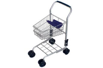 Kids Shopping Trolley Blue Handle