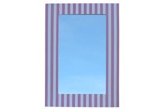 Wall Mirror Stripe Pink & White