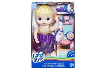 Baby Alive Cupcake Birthday Baby Blonde Hair