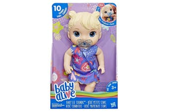 Baby Lil Sounds Blonde Hair Baby Alive
