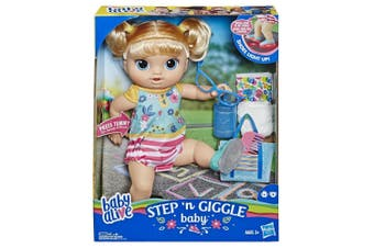 Baby Alive Step n Giggle Baby Blonde Hair Doll