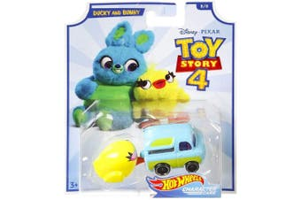 Hot Wheels Toy Story 4 Ducky and Bunny Character Cars