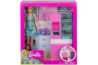 Barbie Fridge Play Set Blonde Doll