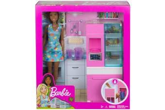 Barbie Fridge Play Set Brunette Doll