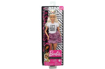 Barbie Fashionistas Doll 148 Long Blonde Hair and Animal Print Skirt