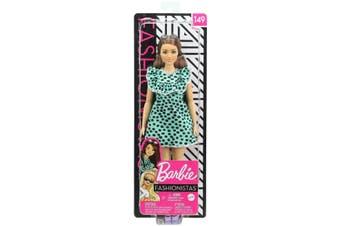 Barbie Fashionistas Doll 149 with Long Brunette Hair & Polka Dot Dress