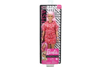 Barbie Fashionistas Doll 151 Long Pink Hair and Red Paisley Outfit