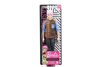 Barbie Fashionistas Ken Doll 154 Purple Hair and Plaid Shirt