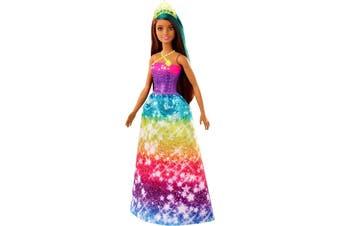 Barbie Dreamtopia Princess Doll Brunette with Blue Hairstreak
