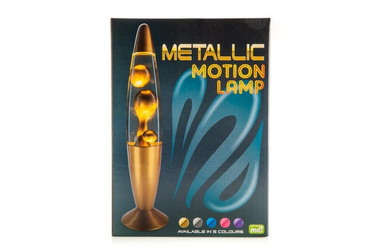 Metallic Motion Lava Lamp Blue
