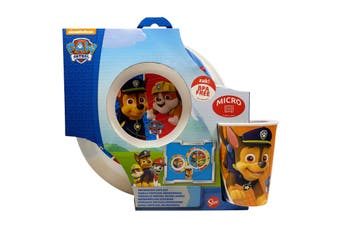 Paw Patrol Blue 3 piece Microwave Set