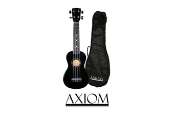 Spectrum Soprano Beginner Ukulele - Black with Bag