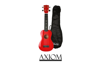 Spectrum Soprano Beginner Ukulele - Red with Bag