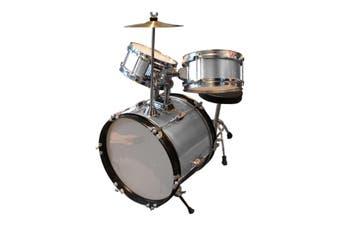 Childrens Drum Set - Silver - Kids Drum Kit