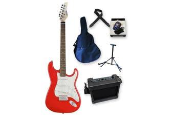 Beginner Electric Guitar Pack - Red