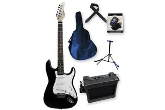Beginner Electric Guitar Pack - Black
