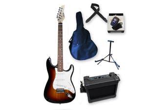 Beginner Electric Guitar Pack - Sunburst