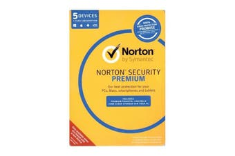 Norton Security Premium 5 Device 1 Year Digital Key Only