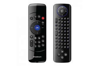 Simplecom RT200 Rechargeable 2.4G Wireless Remote Air Mouse and Keyboard Combo for PC Android TV