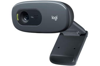 Logitech C270 HD Desktop PC USB WebCam Camera 720p with Built-in Mic