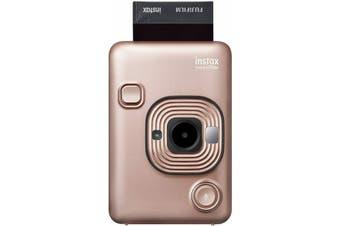Fujifilm Instax Mini LiPlay Instant Camera Blush Gold with Bluetooth