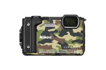 "Nikon COOLPIX W300 Digital Camera Camouflage Waterproof/Rugged 1/2.3"" 16 MP GPS"