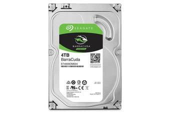 "Seagate Barracuda 4TB HDD SATA 3.5"" 5400RPM 256MB Internal PC Hard Disk Drive"