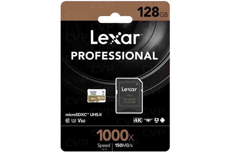 Lexar Professional 1000x 128GB 150MB/s Micro SD Memory Card SDXC UHS-II U3