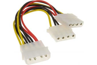 OEM 4 Pin Power Cable Split to 2 Molex Power Splitter Cable