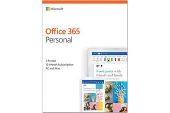 Microsoft Office 365 Personal Mac Windows 1 Year Licence Subscription