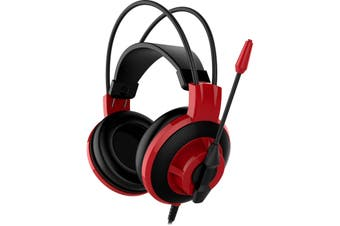 MSI Over-Ear 3.5mm Jack Wired Gaming Headphone Headset DS501 Red With Mic