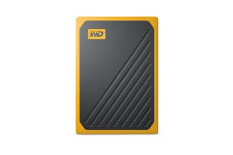 Western Digital My Passport Go Amber 500GB External SSD Portable Solid State Drive PC Yellow