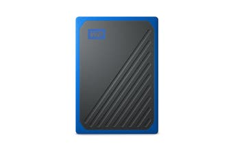 Western Digital My Passport Go Amber 500GB External SSD Portable Solid State Drive PC Blue
