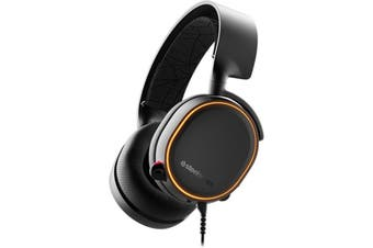SteelSeries Arctis 5 USB Wired Over-Ear RGB Gaming Headset Headphone Black