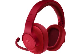 Logitech G433 Red 3.5mm Over-Ear 7.1 Surround Gaming Headset Headphone