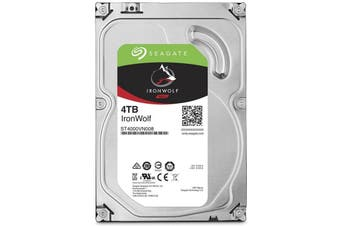 "Seagate NAS HDD 4TB SATA 3.5"" IronWolf 5900RPM 64MB Internal Hard Disk Drive"
