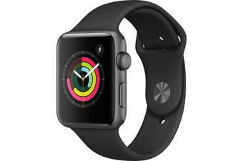 Apple Watch Series 3 42mm Smartwatch with Space Gray Aluminum Case