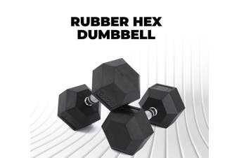 Rubber Hex Dumbbell 20KG Weight Home Gym Equipment Fitness Training Workout
