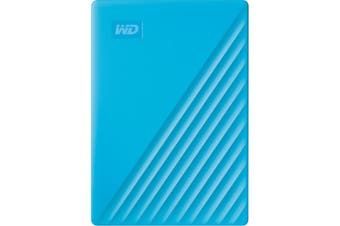 WD My Passport 4 TB Portable Hard Drive External HDD USB 3.2 Sky Blue